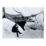 Nansen in the arctic, with Fram Postcard