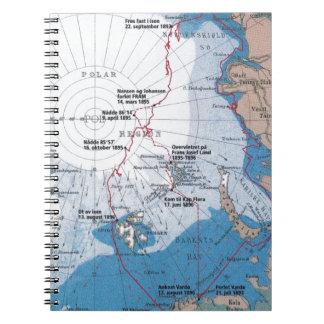 Nansen's Polar Voyages Spiral Notebook