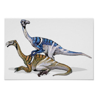 Nanshiungosaurus - cartera cretácea del dinosaurio póster