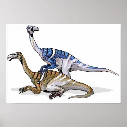 Nanshiungosaurus - Cretaceous Dinosaur Portfolio Print