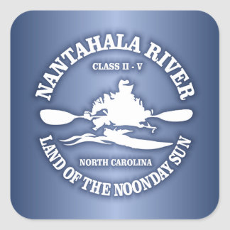 Nantahala River Square Sticker