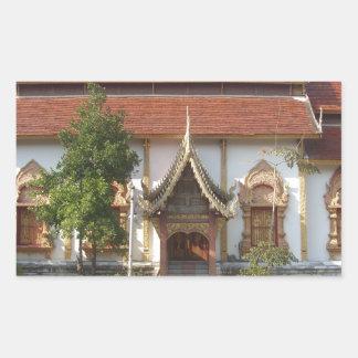 Nantaram Buddhist Temple Rectangular Sticker