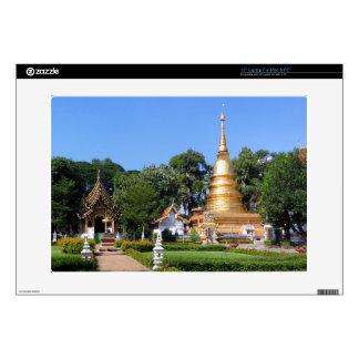 "Nantaram Temple Pagoda and Garden Decal For 15"" Laptop"