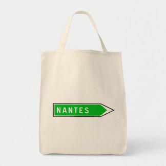 Nantes, Road Sign, France Tote Bag