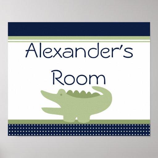 Nantucket Alligator Poster Art Print Sign