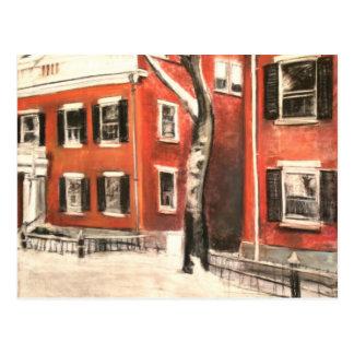 Nantucket Bricks in Winter Postcard