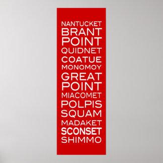 Nantucket coloca el poster moderno intrépido