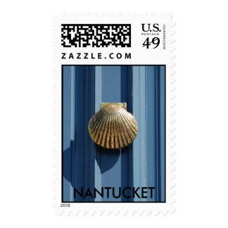 Nantucket Door Postage Stamp