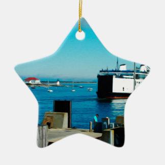 Nantucket Ferry Ceramic Ornament
