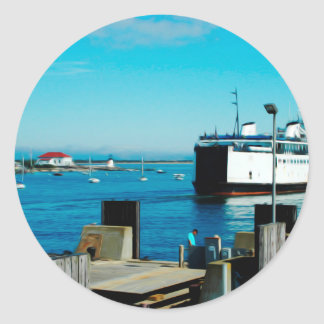 Nantucket Ferry Classic Round Sticker