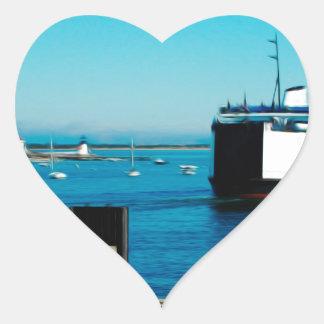 Nantucket Ferry Heart Sticker