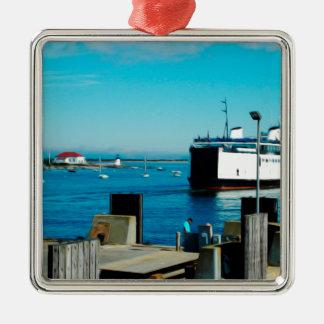 Nantucket Ferry Metal Ornament