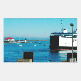 Nantucket Ferry Rectangular Sticker
