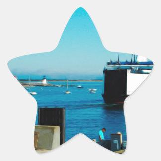 Nantucket Ferry Star Sticker