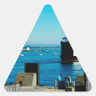 Nantucket Ferry Triangle Sticker