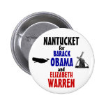 Nantucket for Obama and Warren 2012 2 Inch Round Button