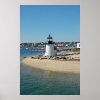 Nantucket Harbor Lighthouse Poster