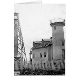Nantucket Harbor Range Lights Card
