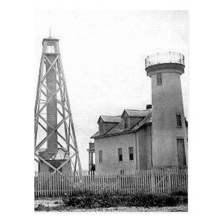 Nantucket Harbor Range Lights Postcard