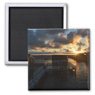 Nantucket Harbor Sunrise Magnet