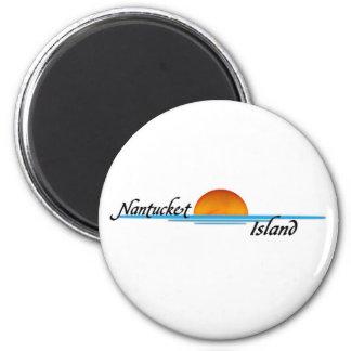 Nantucket Island 2 Inch Round Magnet
