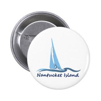 Nantucket Island. Button