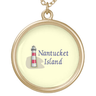 Nantucket Island Gold Plated Necklace