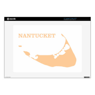 Nantucket Island in Sand Laptop Decal