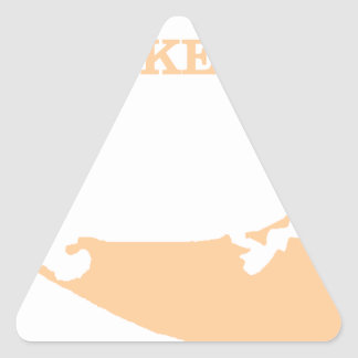 Nantucket Island in Sand Triangle Sticker