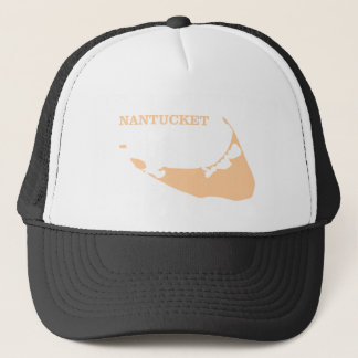 Nantucket Island in Sand Trucker Hat
