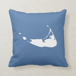 Nantucket Island Map Reversible Square Pillow