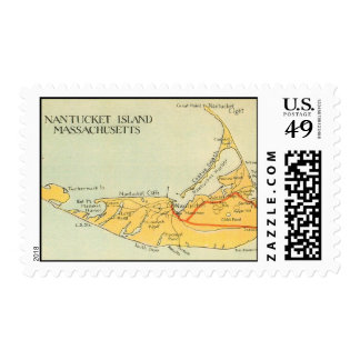 Nantucket Island, Massachusetts Postage Stamp