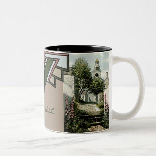 Nantucket Island, Massachusetts Two-Tone Coffee Mug