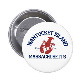 Nantucket Island. Pinback Button
