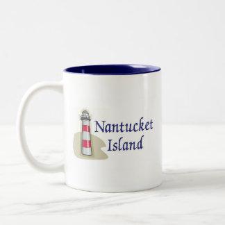 Nantucket Island Two-Tone Coffee Mug