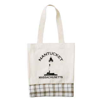 Nantucket Island. Zazzle HEART Tote Bag