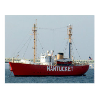 Nantucket MA Cape Cod Boat in Harbor Post Card