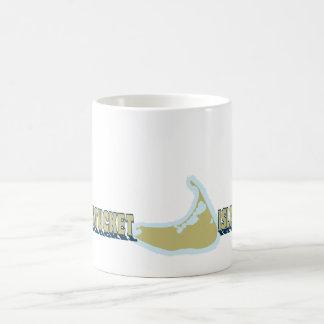Nantucket MA - Map Design. Coffee Mug