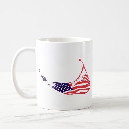 Nantucket MA - Map Design. Classic White Coffee Mug