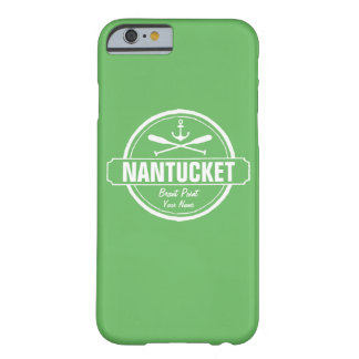 Nantucket, MA personalized name, nautical anchor Barely There iPhone 6 Case