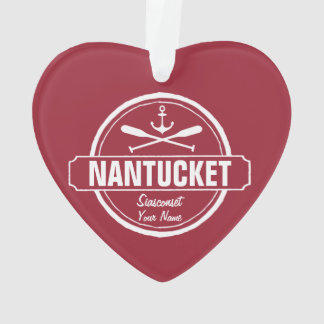 Nantucket, MA personalized name, nautical anchor Ornament