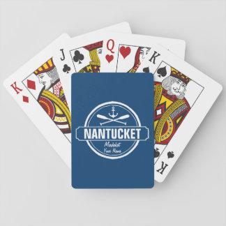 Nantucket, mA personalizó el ancla conocida, Barajas De Cartas