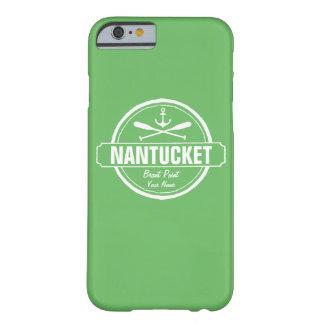 Nantucket, mA personalizó el ancla conocida, Funda Para iPhone 6 Barely There