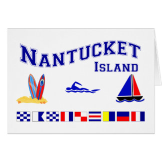 Nantucket MA Signal Flag Greeting Card