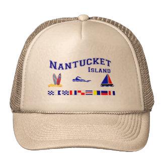 Nantucket MA Signal Flag Trucker Hat