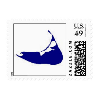 Nantucket map stamp
