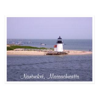 Nantucket Mass Brandt Point Lighthouse Post Card