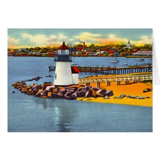 Nantucket Massachusetts Brant Point Light House Card
