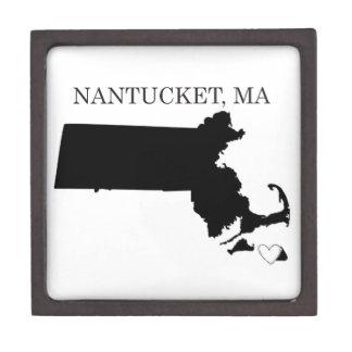 Nantucket Massachusetts Caja De Joyas De Calidad