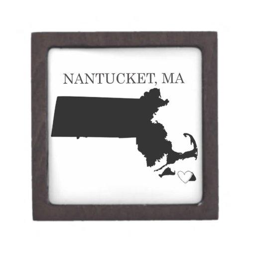 Nantucket Massachusetts Cajas De Regalo De Calidad